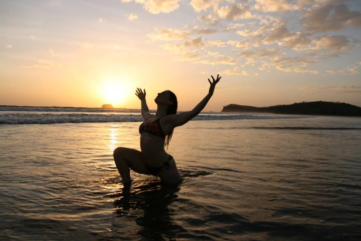Yoga Nicargua - Beach Sunset